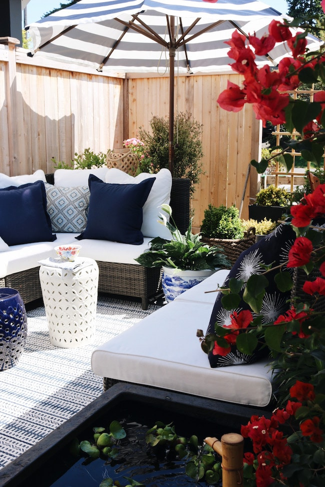 Our Side Patio Makeover (+ Patio Pond giveaway!)