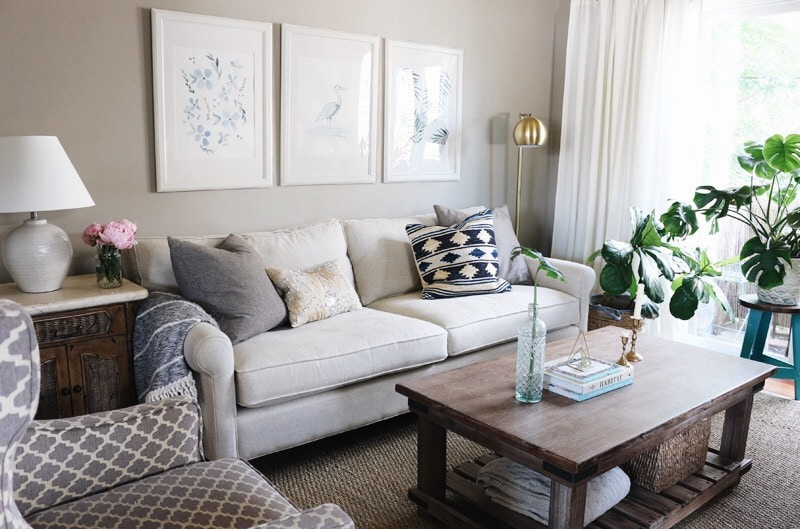 Townhouse Update: New Sofa + Living Room Decorating