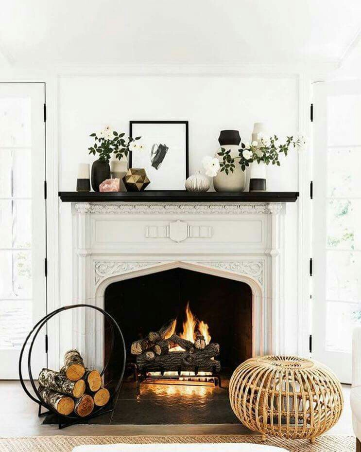 7 Ways to Cozy Up Your Fall Fireplace + Accessories