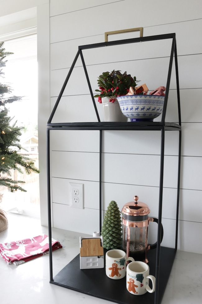 Simple Christmas Display Shelf in My Kitchen!