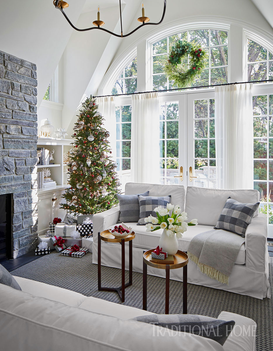 christmas plaid tartan buffalo check the inspired room. Black Bedroom Furniture Sets. Home Design Ideas