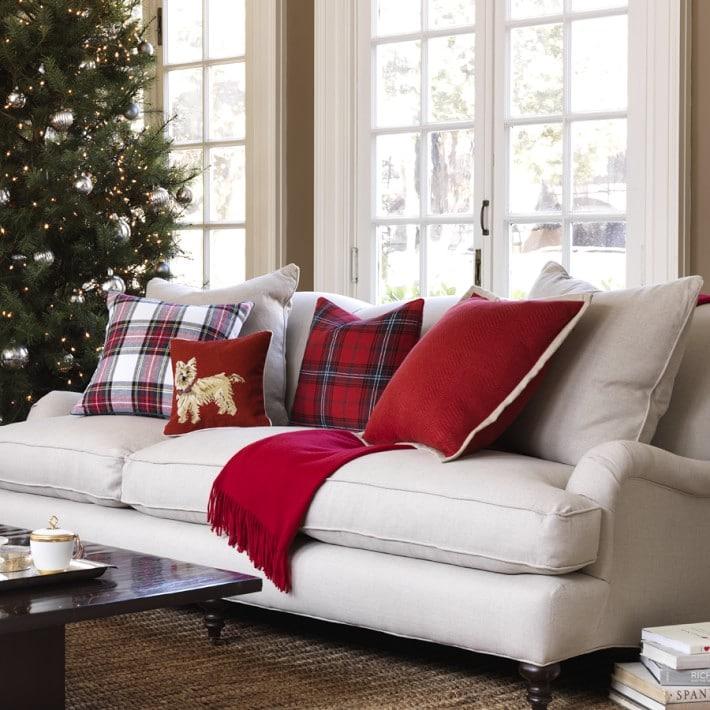 Plaid Christmas Pillows.Christmas Plaid Tartan Buffalo Check The Inspired Room