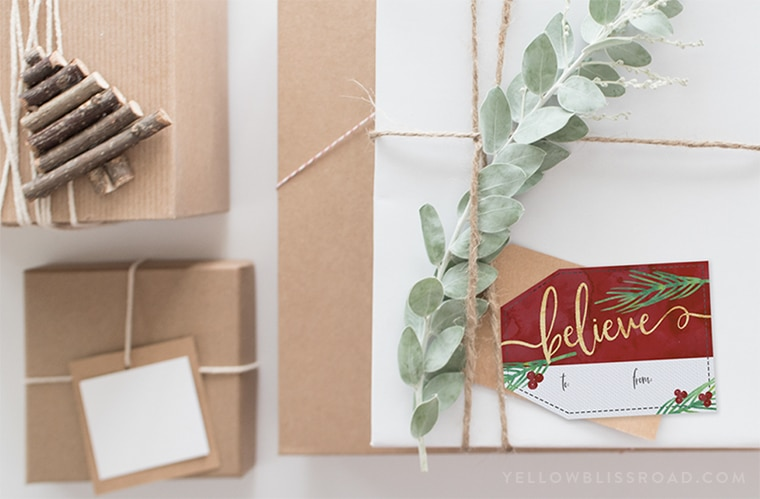 Free Printable Christmas Gift Tags and Gift Wrap