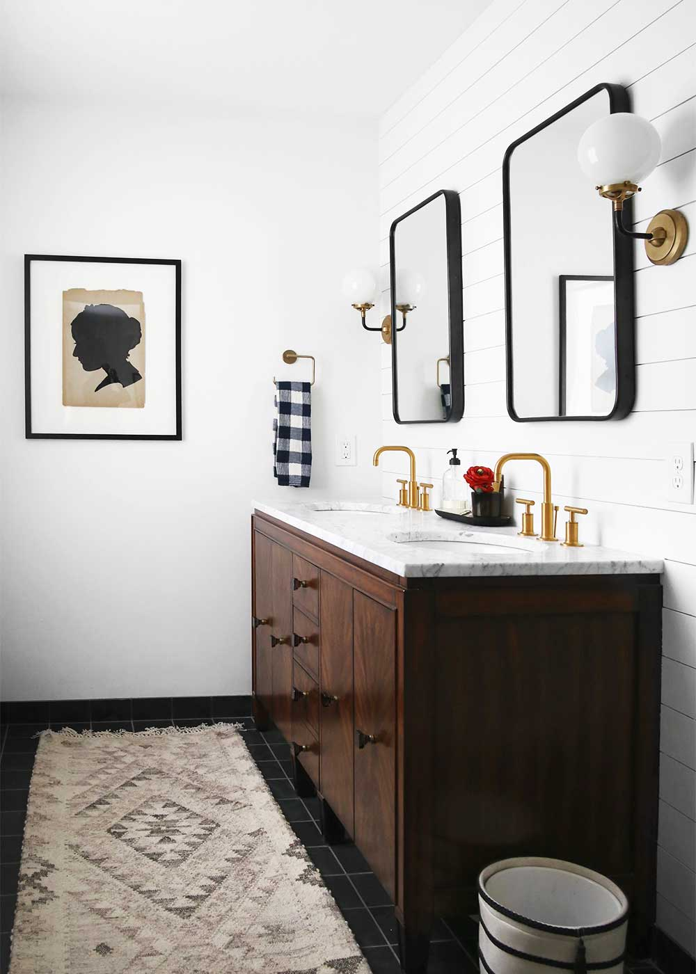 Masculine and moody rooms get the look the inspired room for Bathroom designs 2018