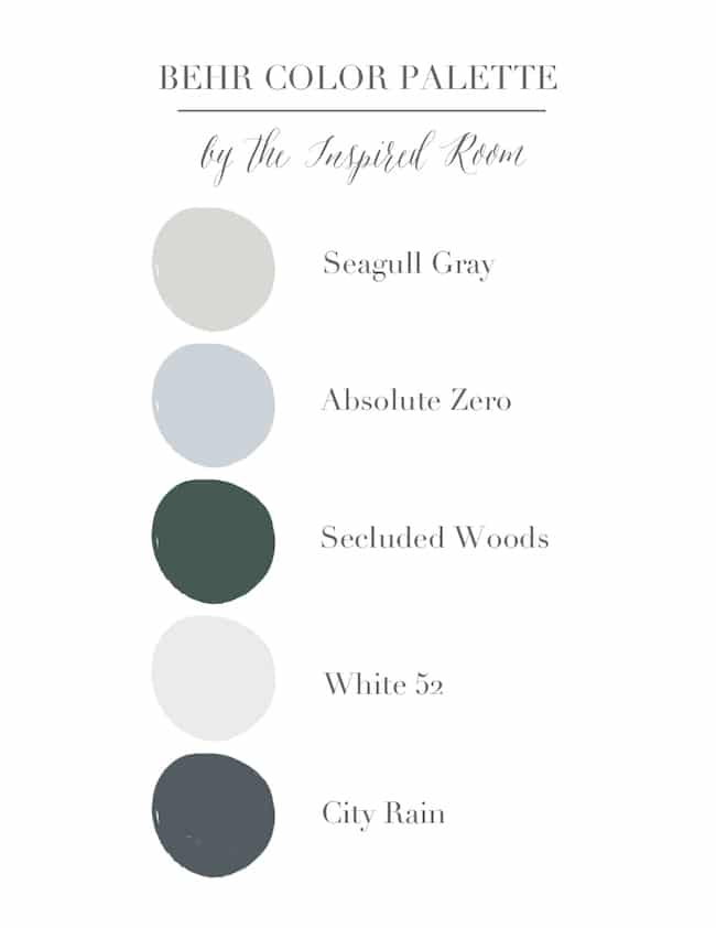 New Bedroom Paint Color! Seagull Gray by Behr