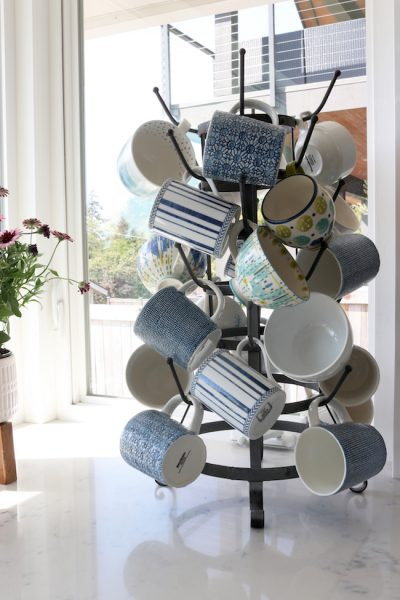 Delighting in Decorating + Spring Mug Rack