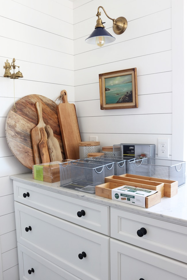 how to organize a small kitchen the inspired room. Black Bedroom Furniture Sets. Home Design Ideas