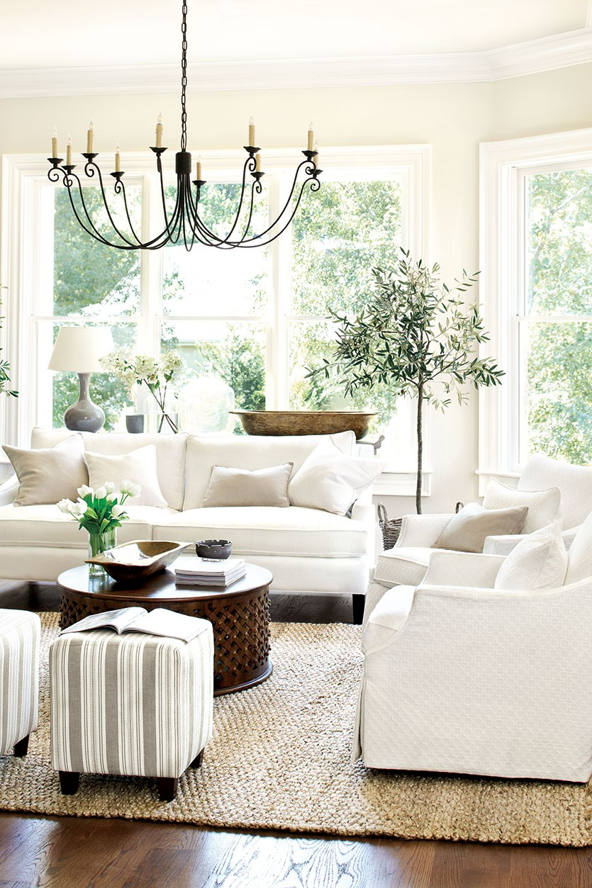 White (+ Neutral) Couch in a Room Inspiration