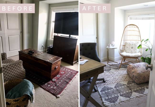 Small Space Home Office Makeover