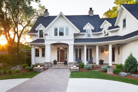 White Traditional Home - Great Neighborhood Homes