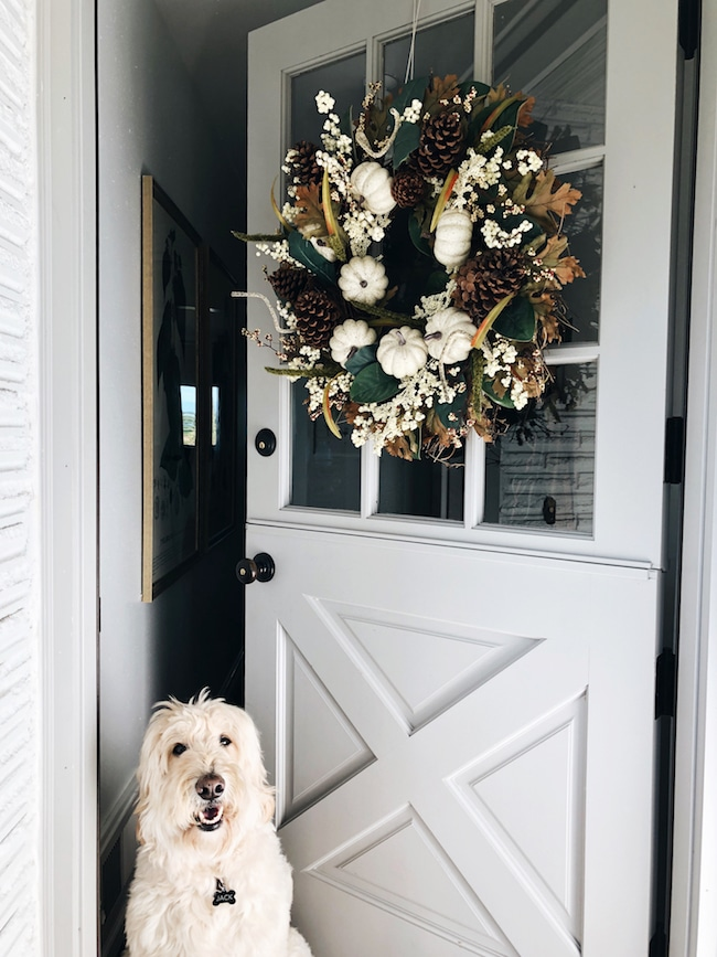 My Fall Wreath + How To Hang A Wreath On The Door