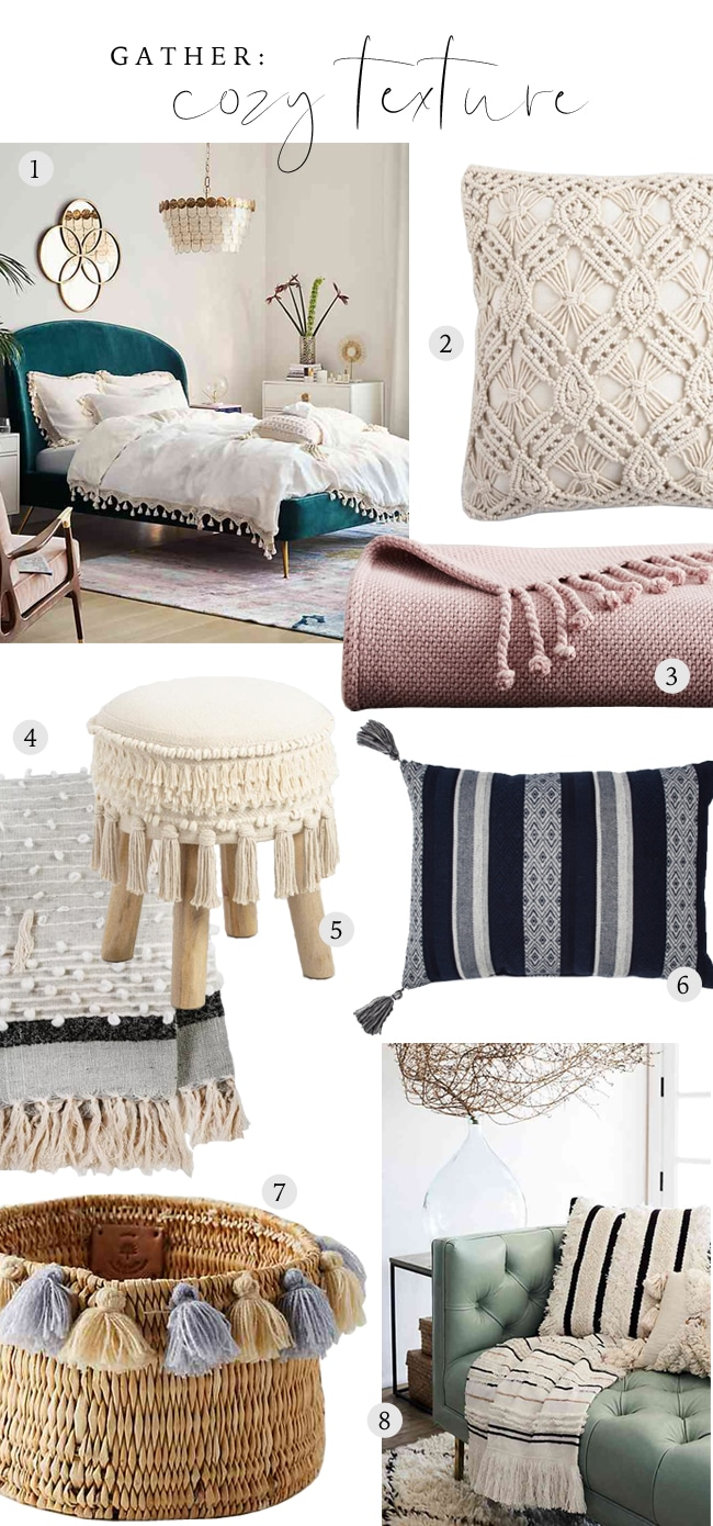 Gather: Cozy Things with Tassels, Textures, and Trims