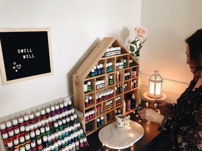 My Winter Wellness Station - Essential Oils Storage