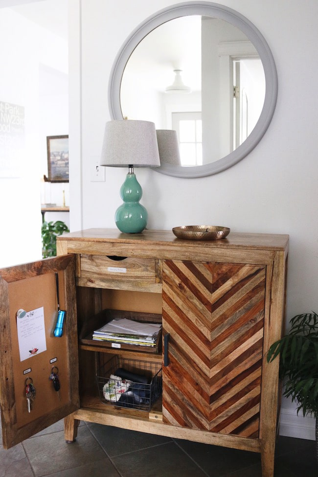 DIY: A Free Standing Cabinet Command Center