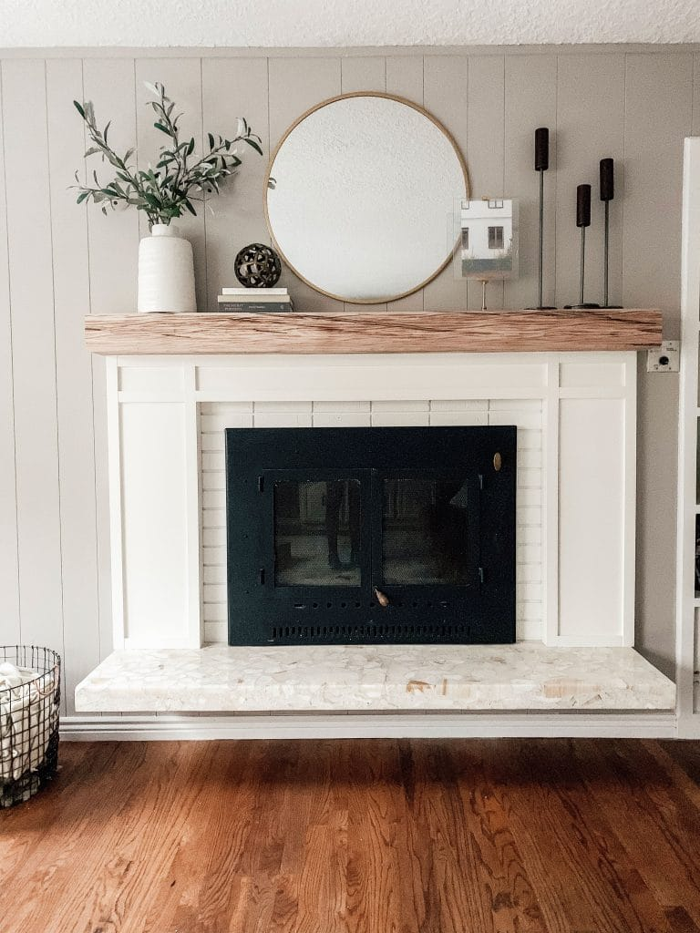 5 fireplace makeover ideas the inspired room - How to make a brick fireplace look modern ...