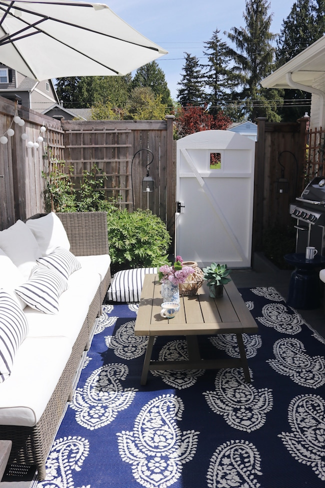 Spring in our Outdoor Oasis (A Side Patio Refresh!)