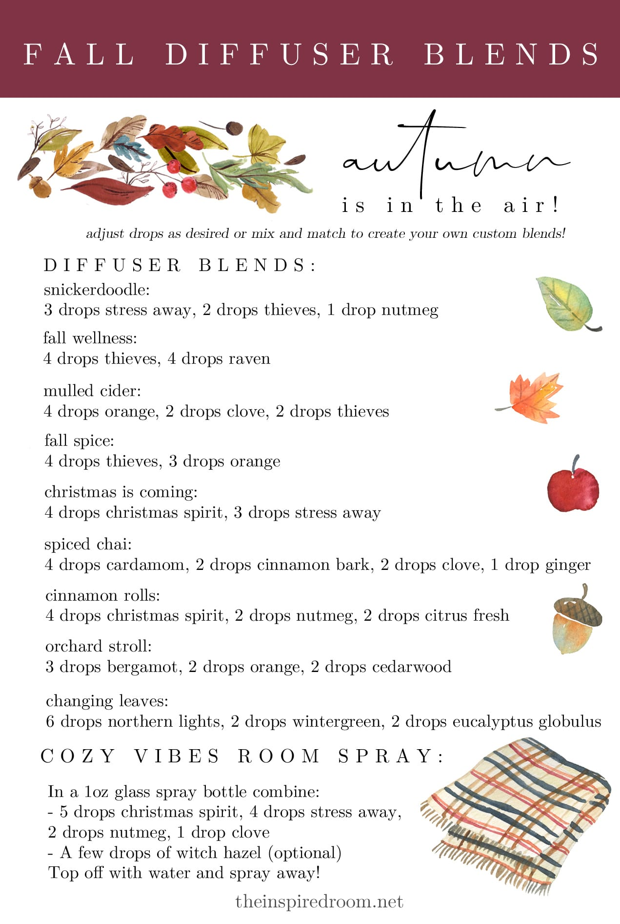 Fall Diffuser Blends + Why I Quit Candles