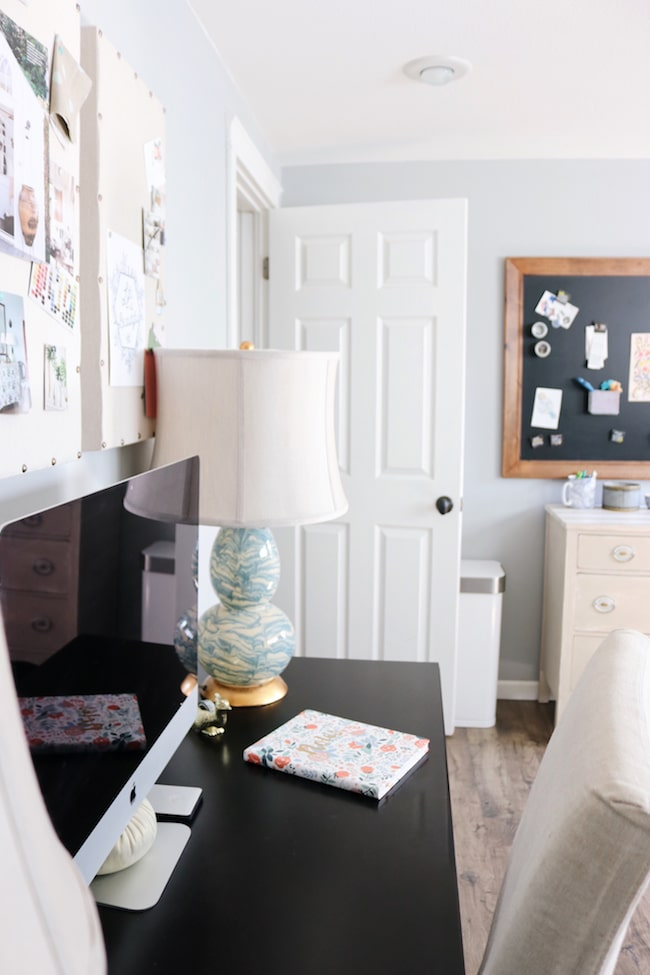Use What You Have  Home Office + Painted Wood Shutters