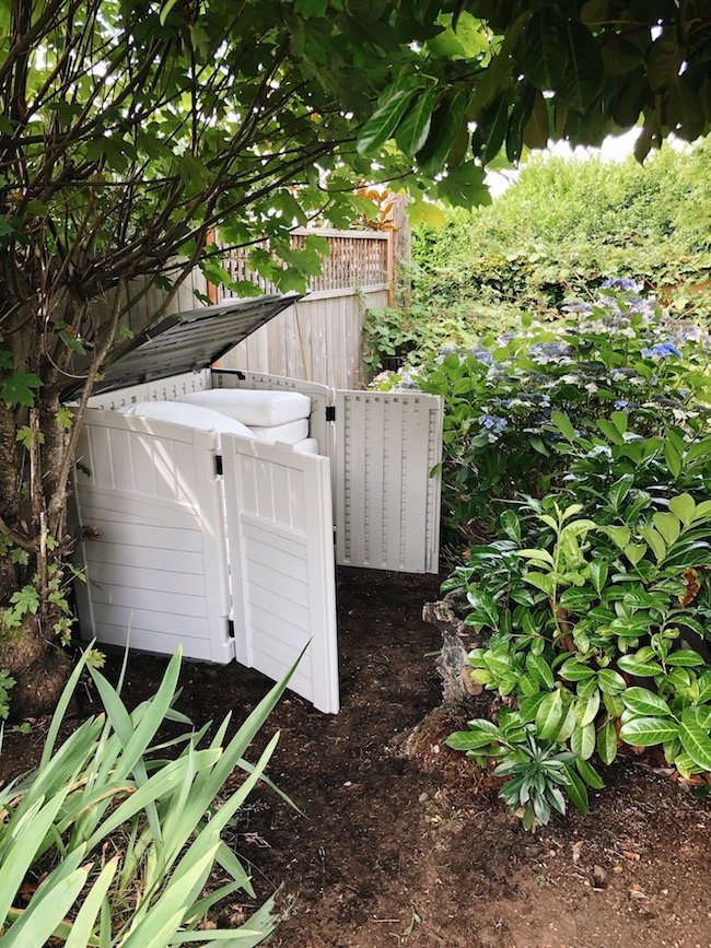 Outdoor Cushion Storage Shed - DIY and Done!