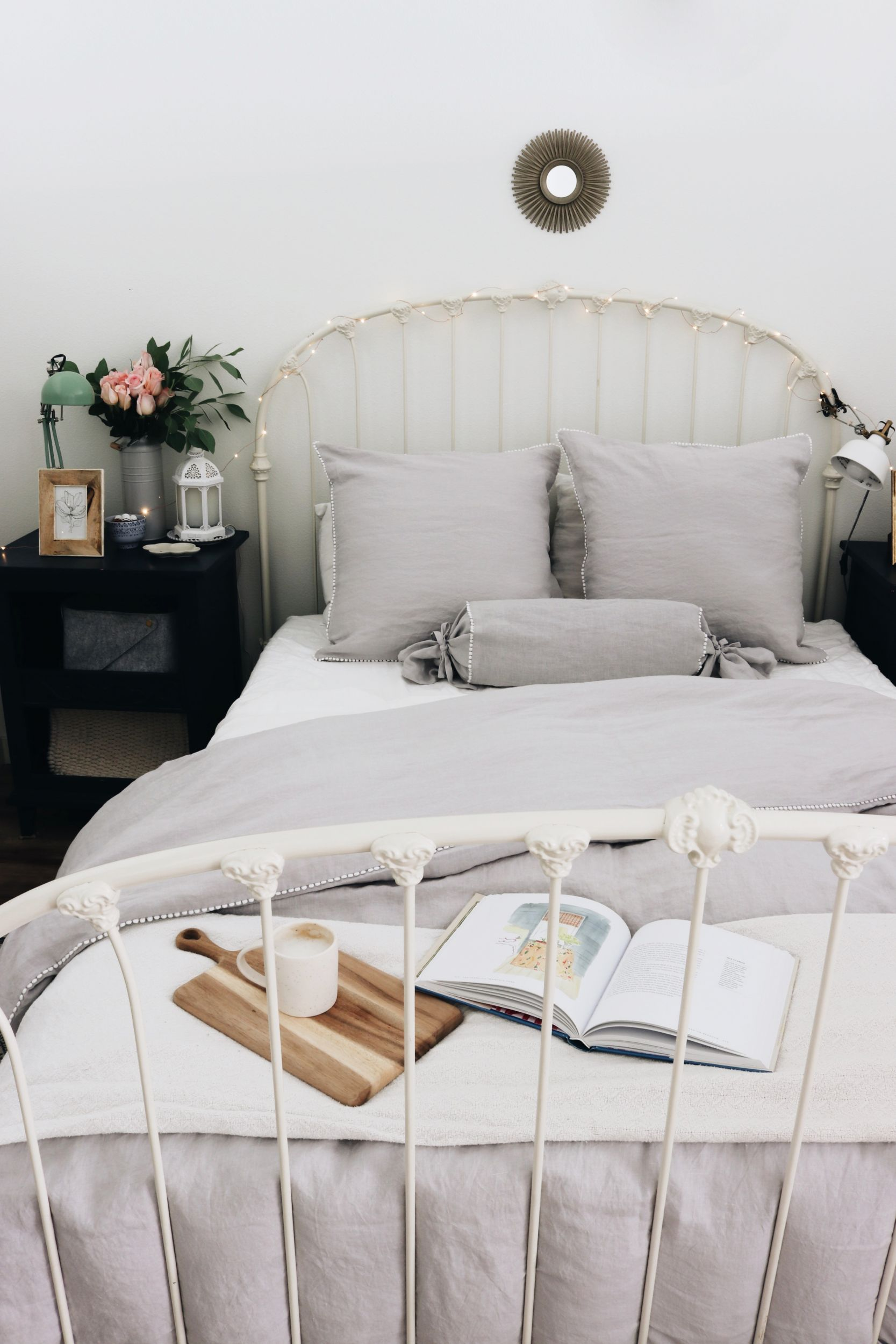 Courtney's Studio Apartment Bedroom Tour + Linen Bedding