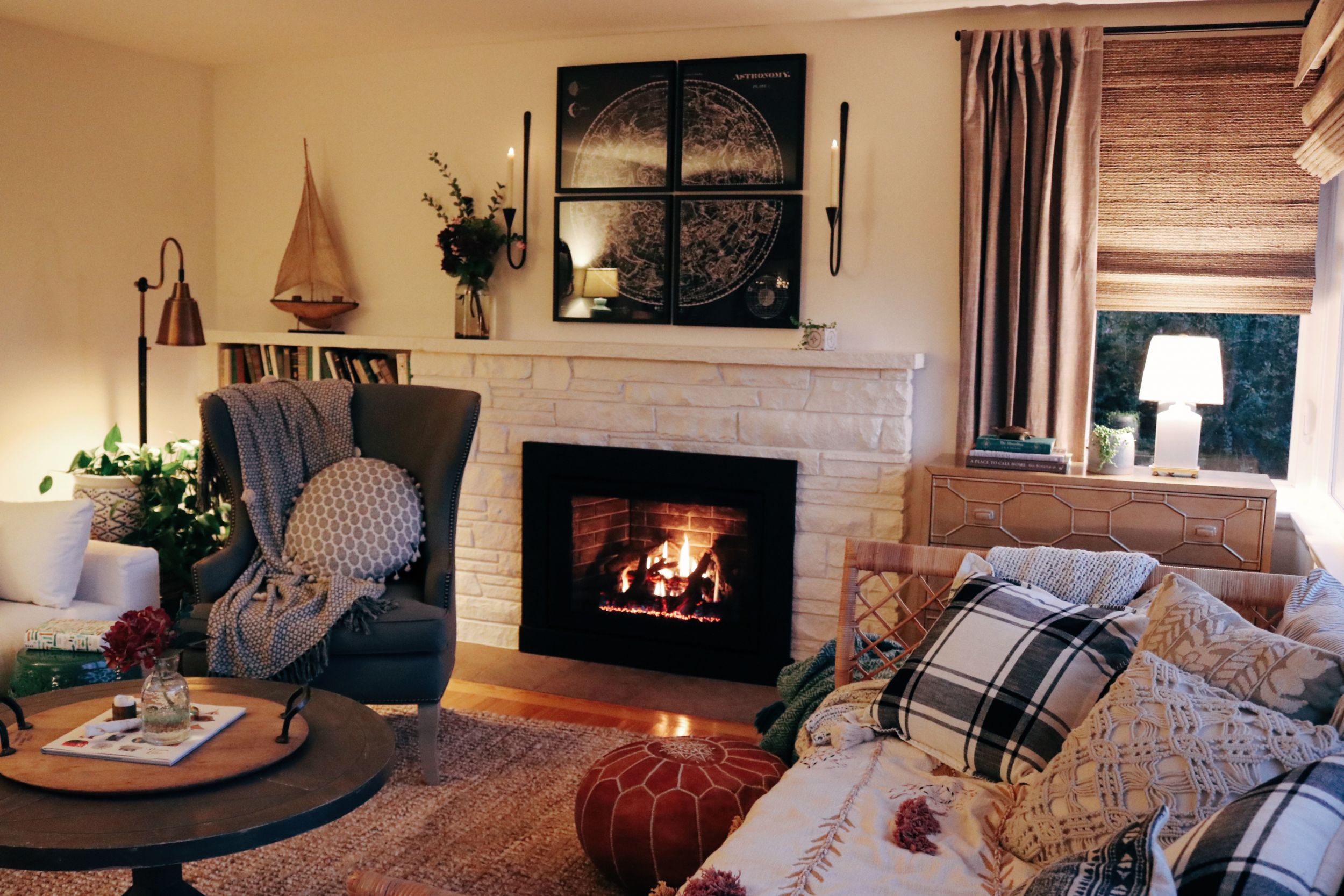 Warm Cozy Room Fireplace Insert Reveal The Inspired Room