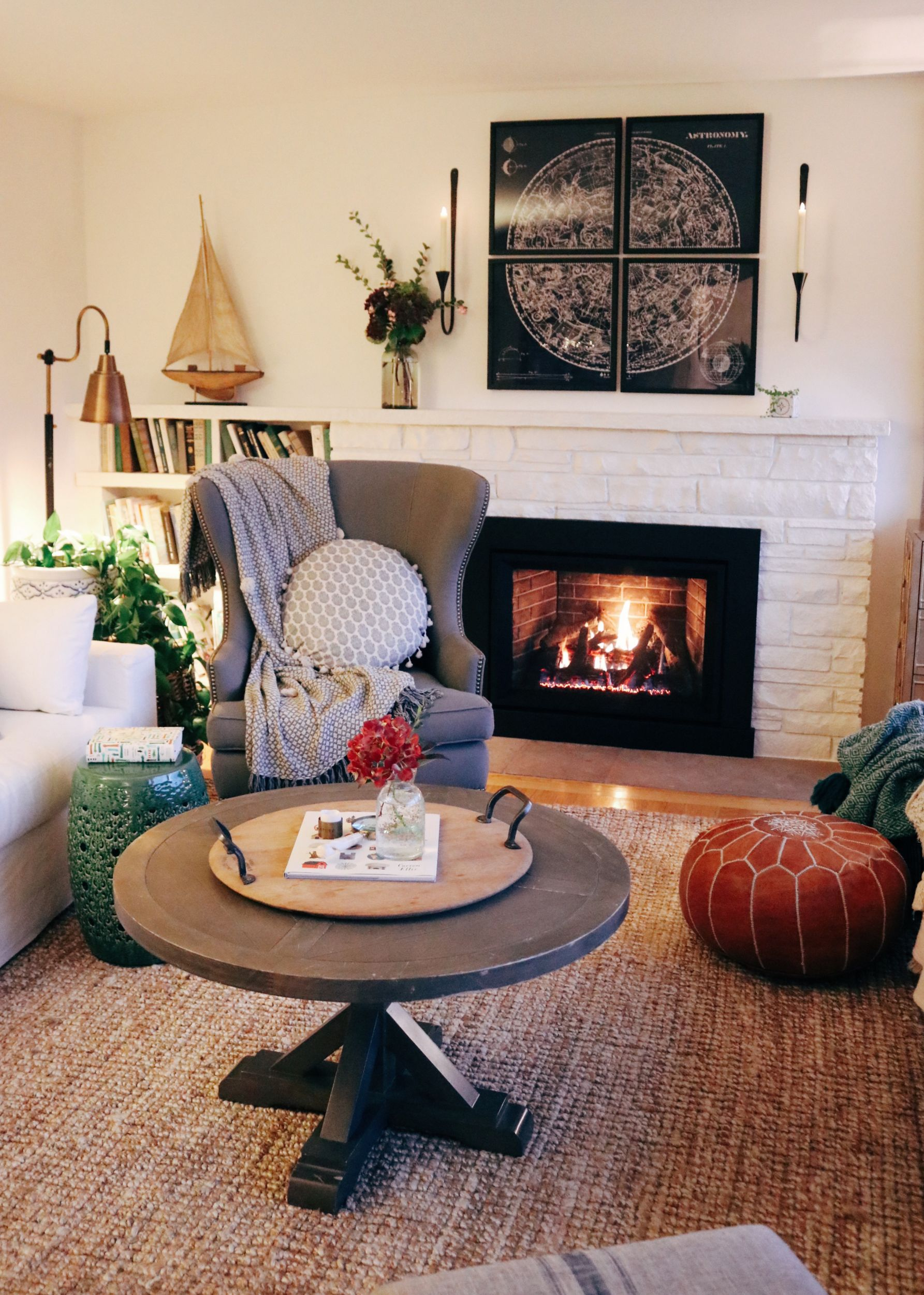 Warm + Cozy Room: Fireplace Insert REVEAL!