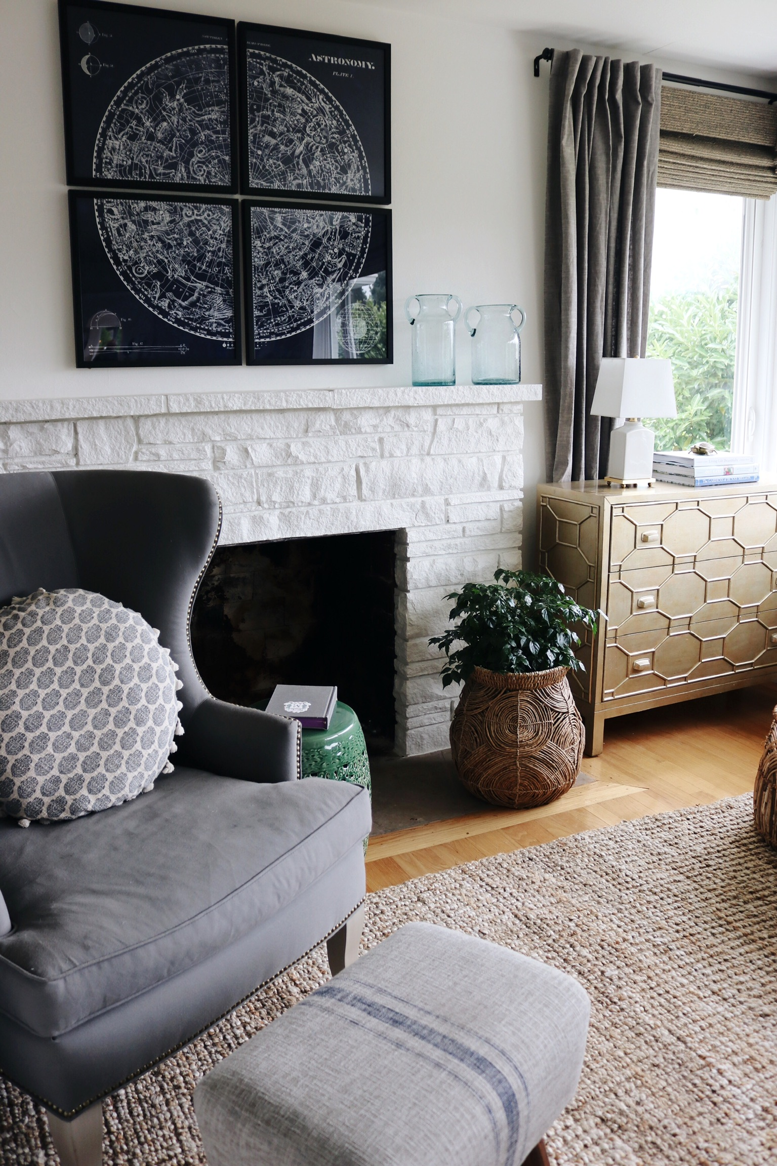 Color Outside The Lines Small Living Room Decorating Ideas: Our Fireplace + Mood Board