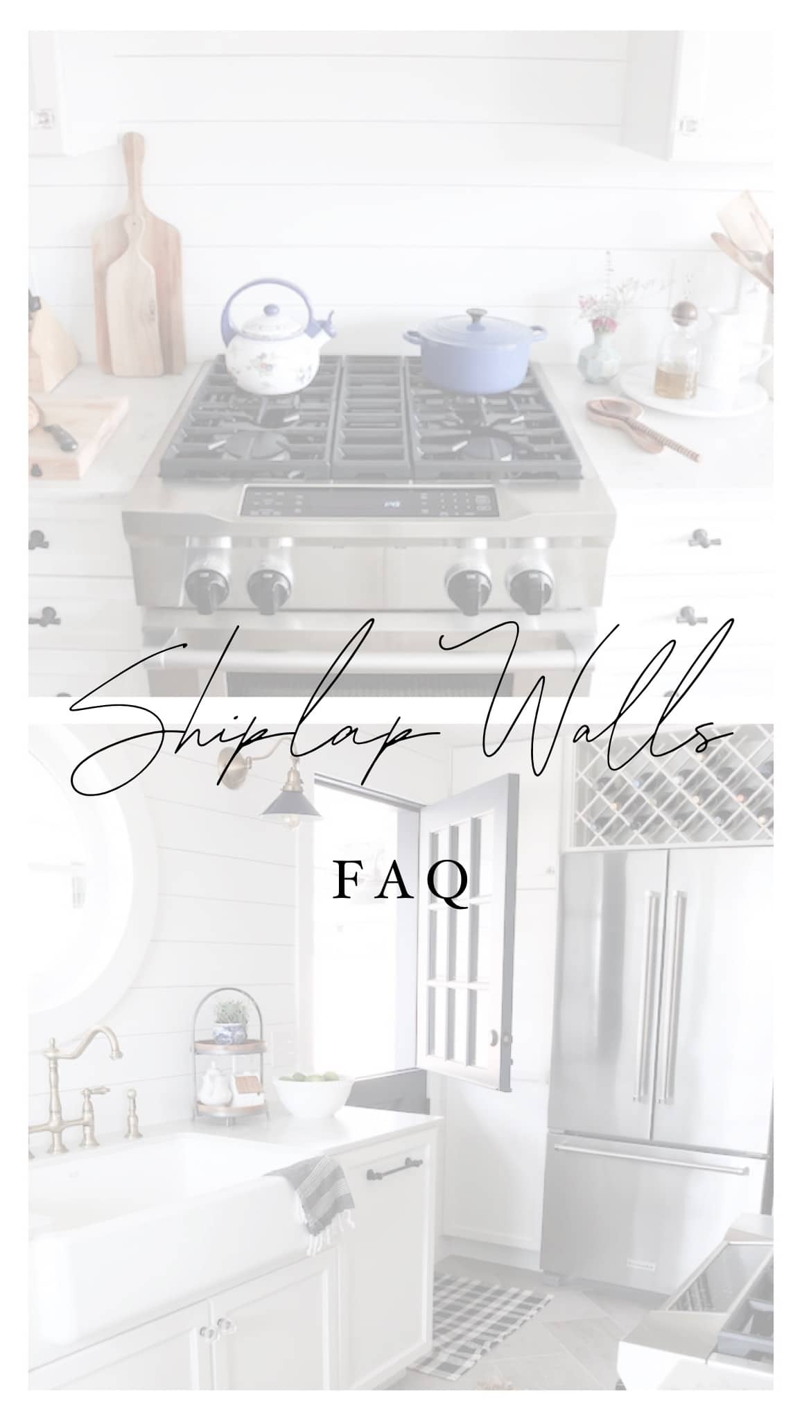 Shiplap Kitchen Tour and Sources