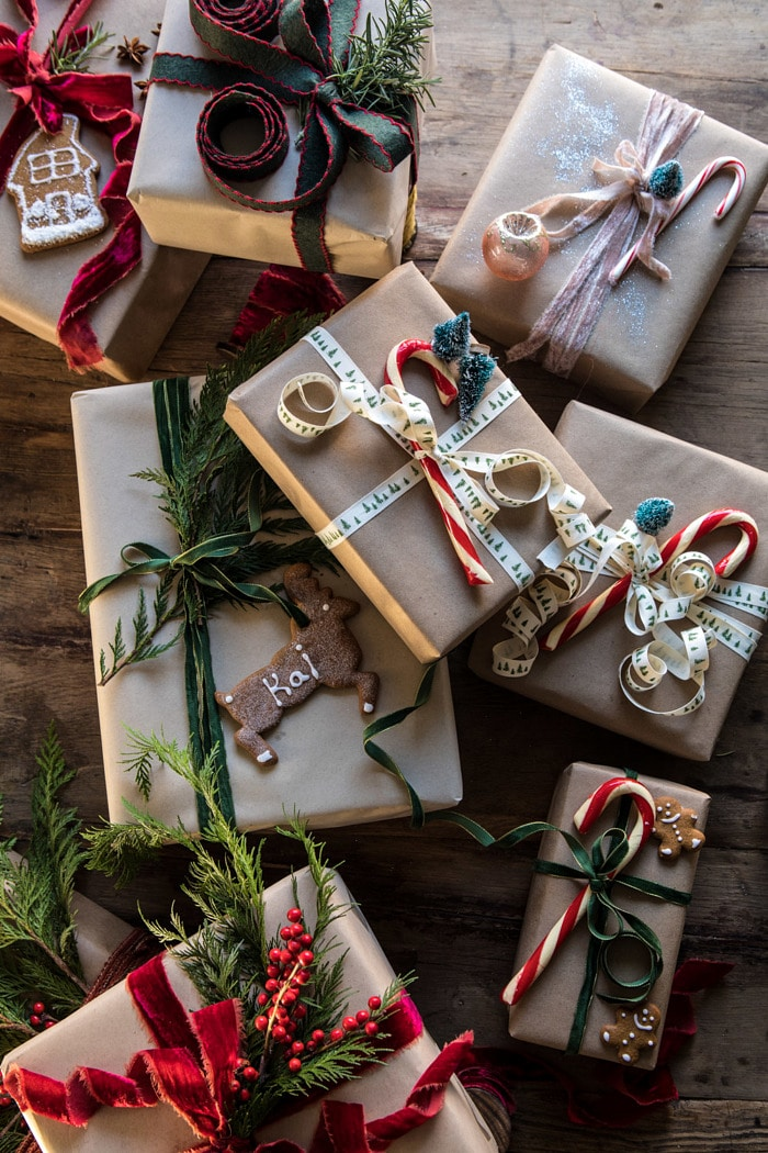 Simple Christmas Gift Wrapping Ideas With Kraft Paper The Inspired Room