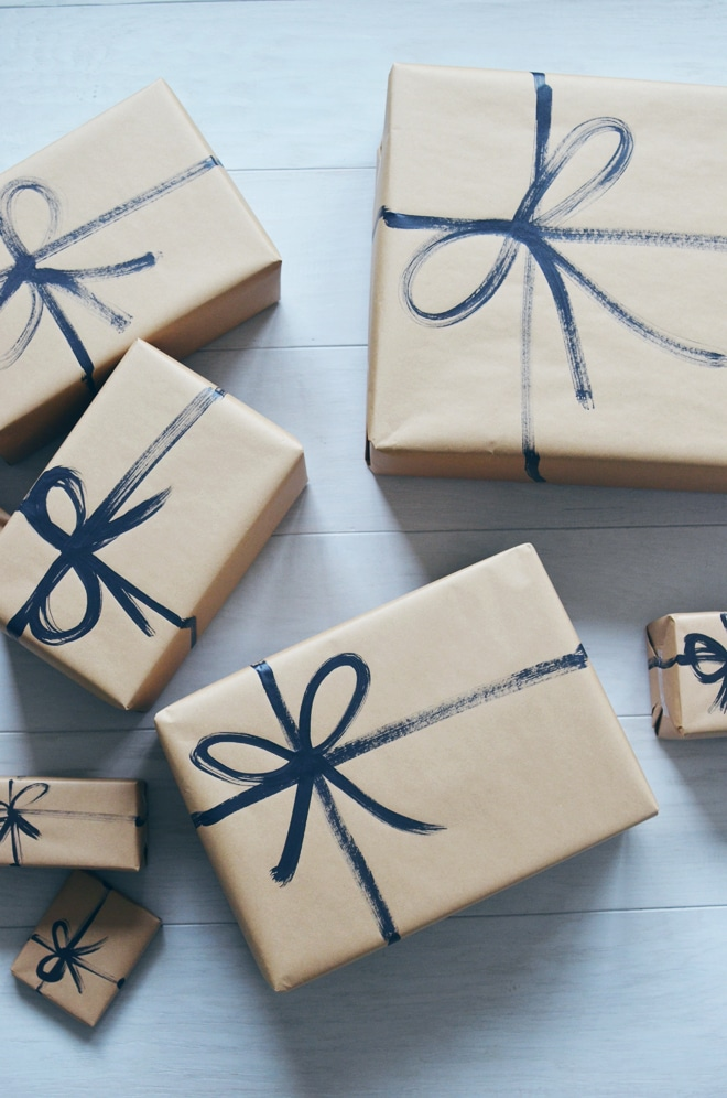 Simple Christmas Gift Wrapping Ideas With Kraft Paper The