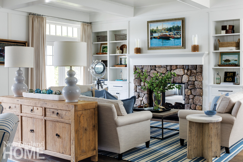 Cozy Inviting Coastal Living Room