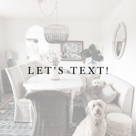 Returning Home + Let's Text!