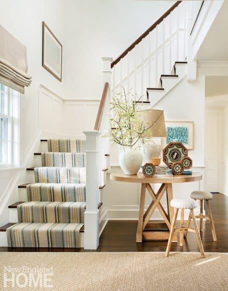 Nantucket Coastsal Home Staircase