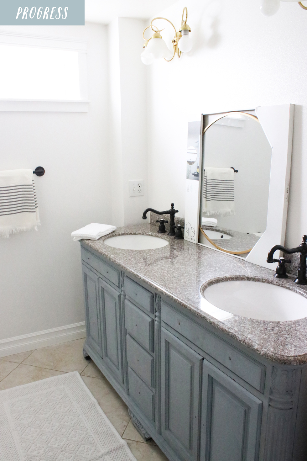 New Bathroom Faucets + Makeover in a Month Update