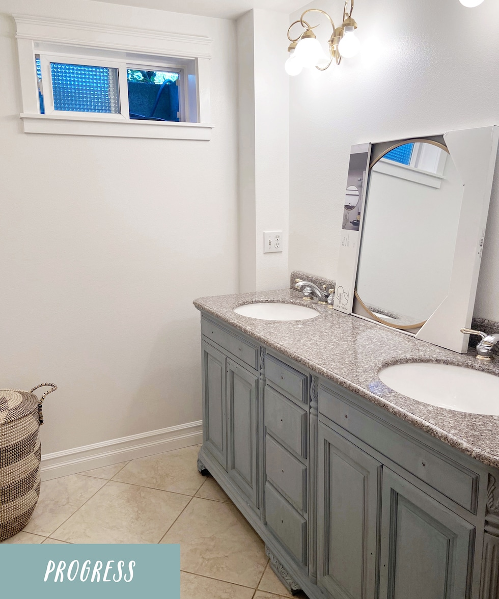 Bathroom Progress | Makeover in a Month