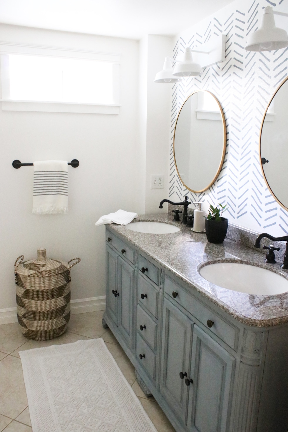 Diy Bathroom Makeover In A Month Before After The Inspired Room