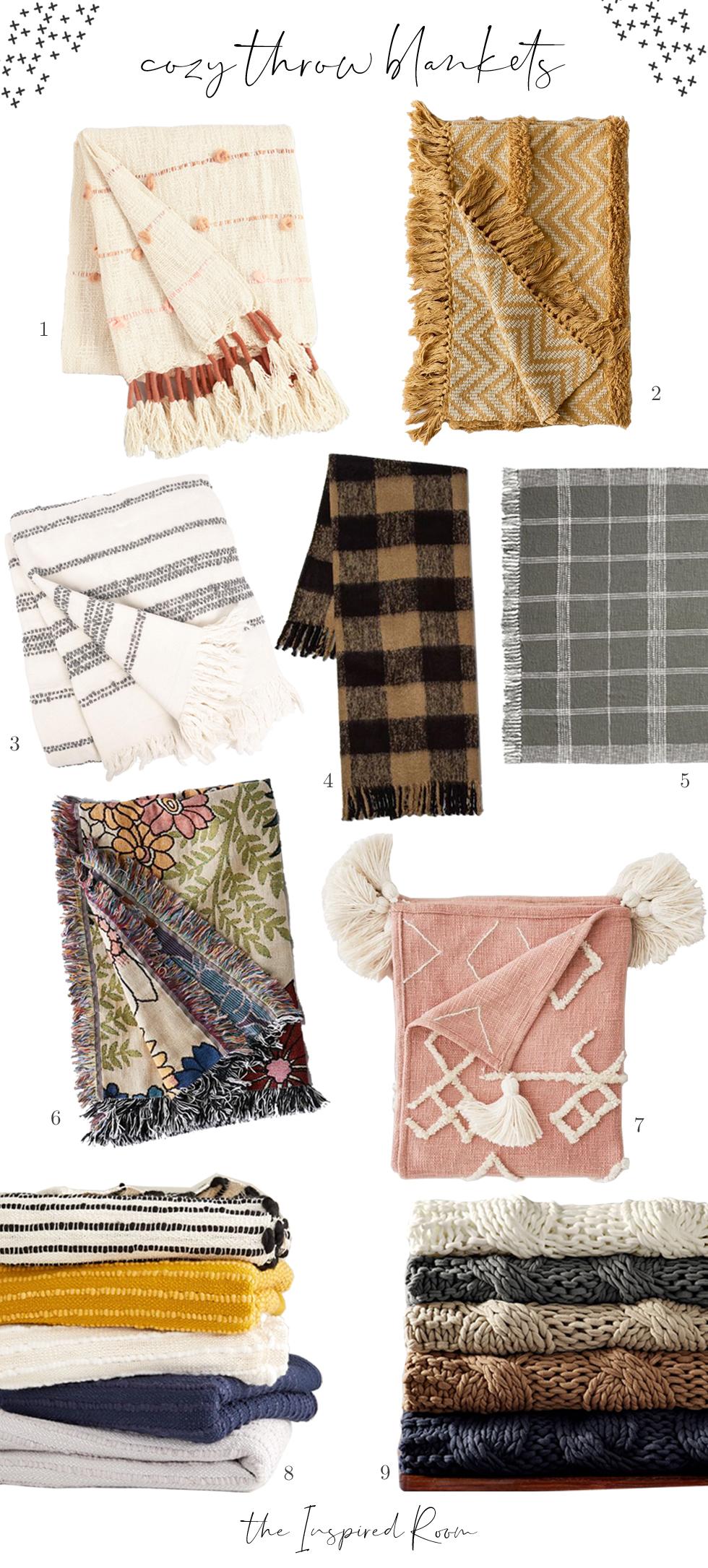 Cozy Throw Blankets (+ Cozy Fall Decor Shop)