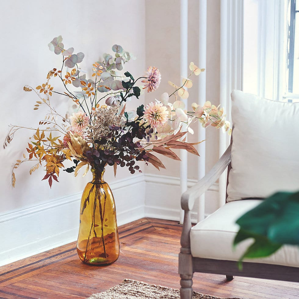 How to Decorate with Faux Fall Foliage