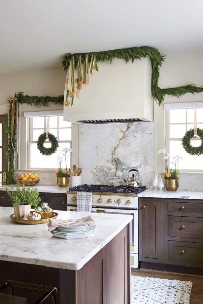 Christmas Decor Ideas with Garland Greenery
