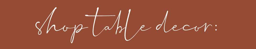 Inspiration: Thanksgiving Table Decor