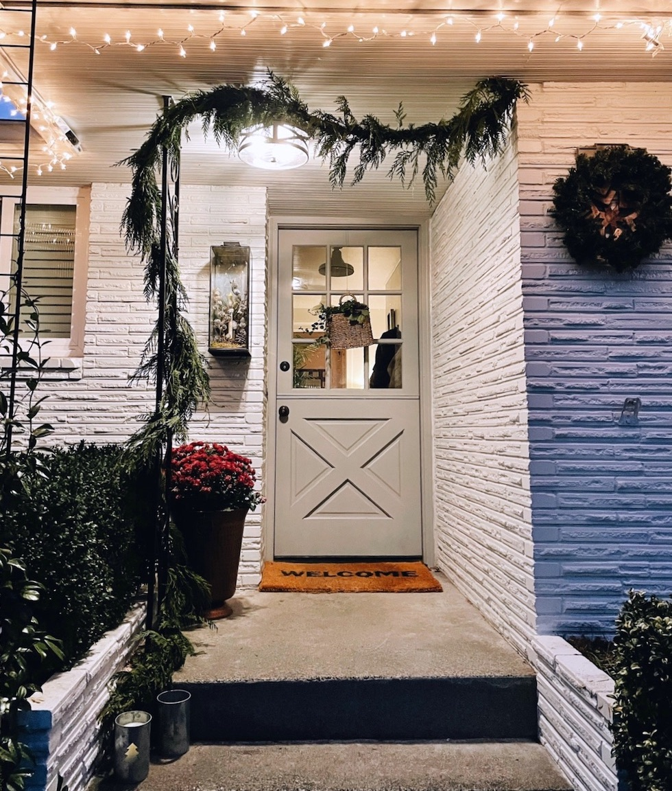 Our Humble Porch at Christmas