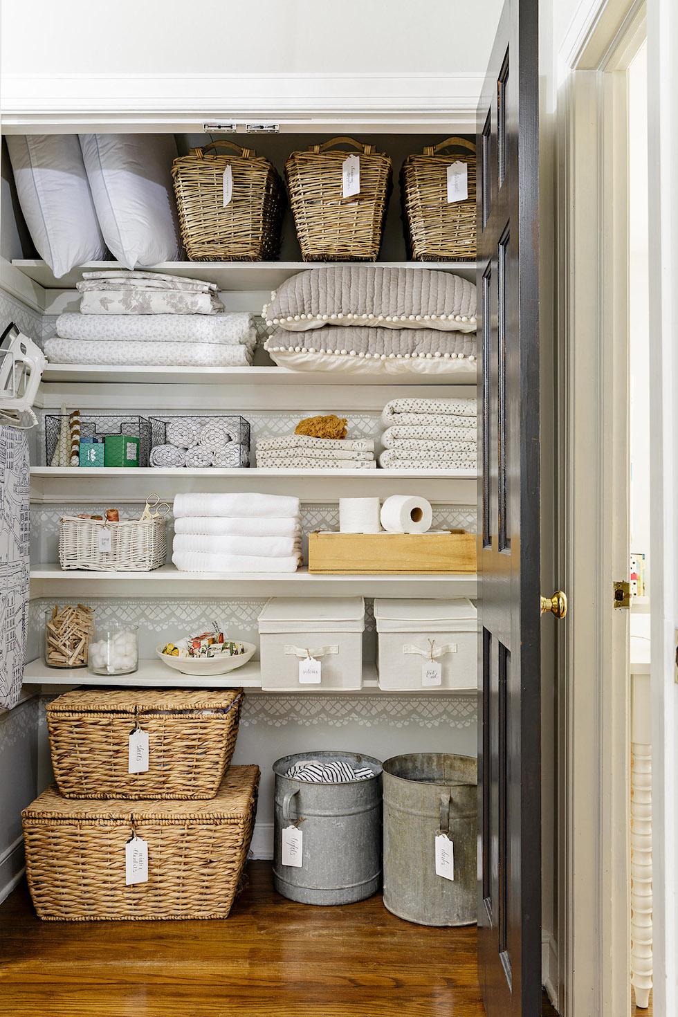 Linen Closet Organization Ideas   The Inspired Room