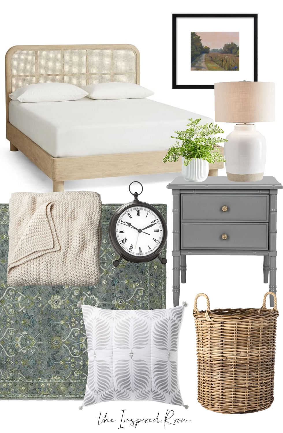 Bedroom Decorating Ideas + Mood Boards: One Cane Bed, 3 Ways