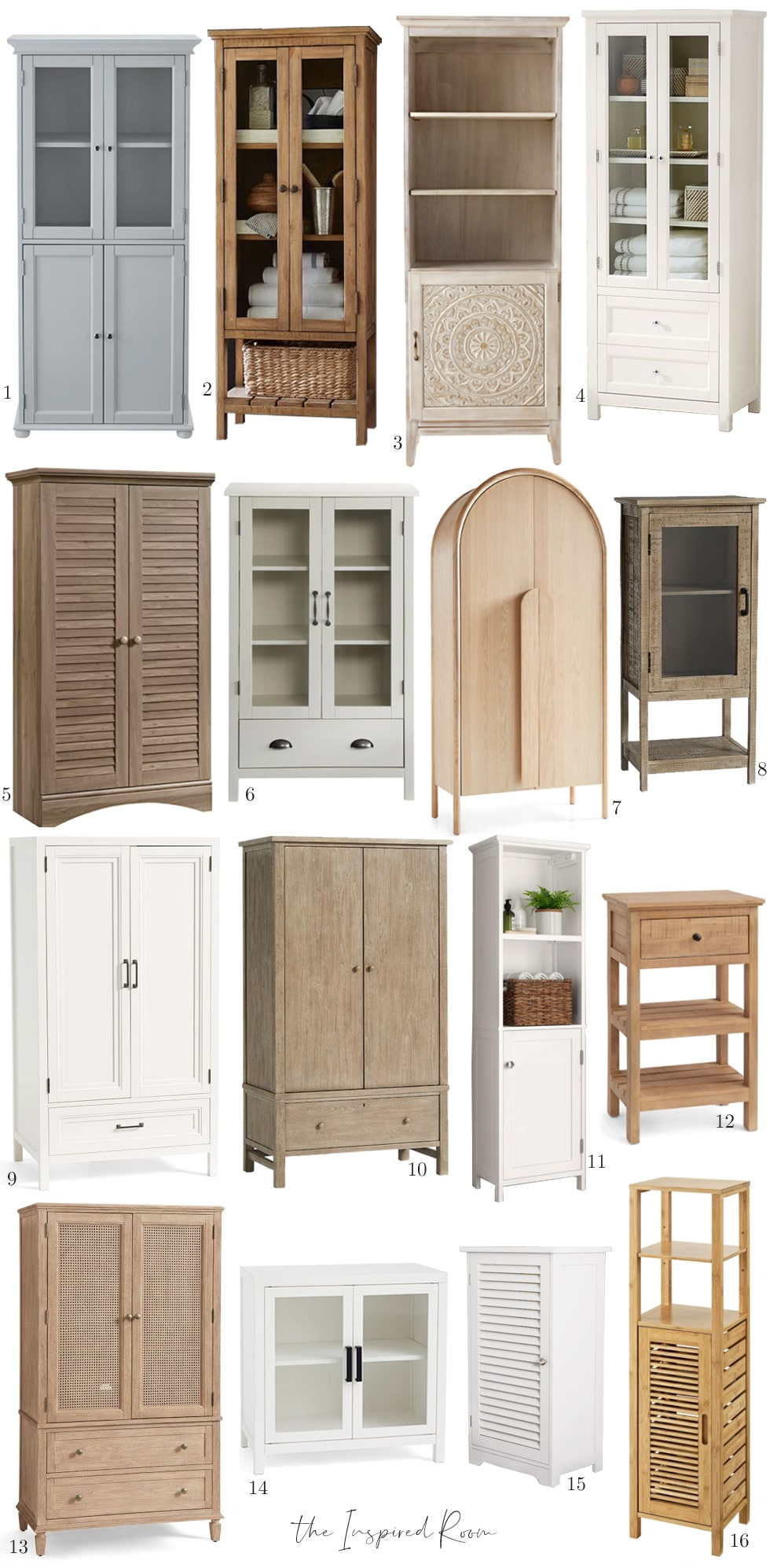 Storage Cabinets for Linens and Things