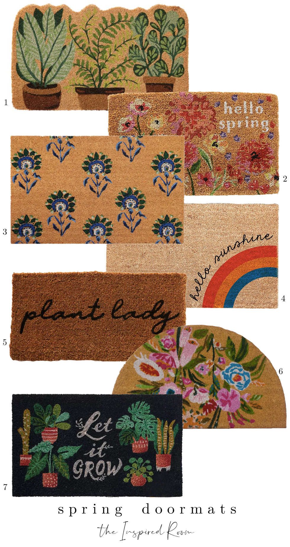 Spring Doormats to Welcome You Home