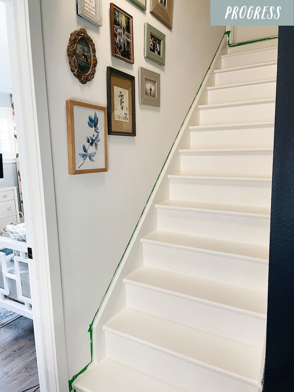 Painting the Staircase (and Ideas for Staircase Runners!)