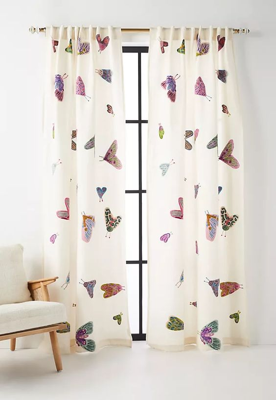 Patterned Curtains in My Home + Similar Sources