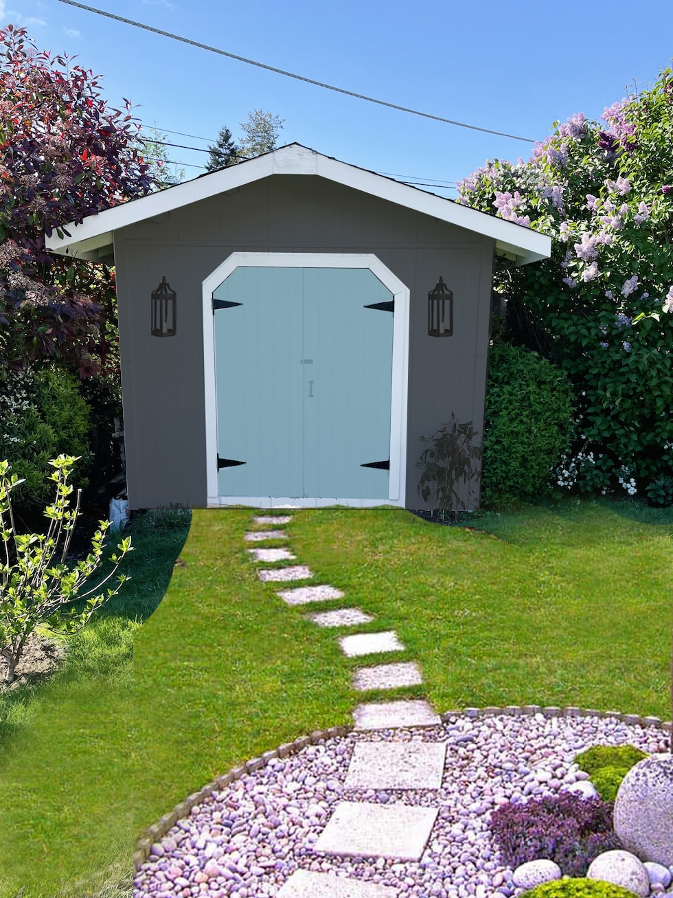 Help Me Redesign Our Garden Shed (+ Our Trick for Visualizing Design Changes)