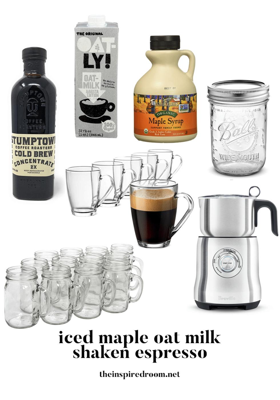Iced Maple Oat Milk Shaken Espresso Recipe (Starbucks Copycat)