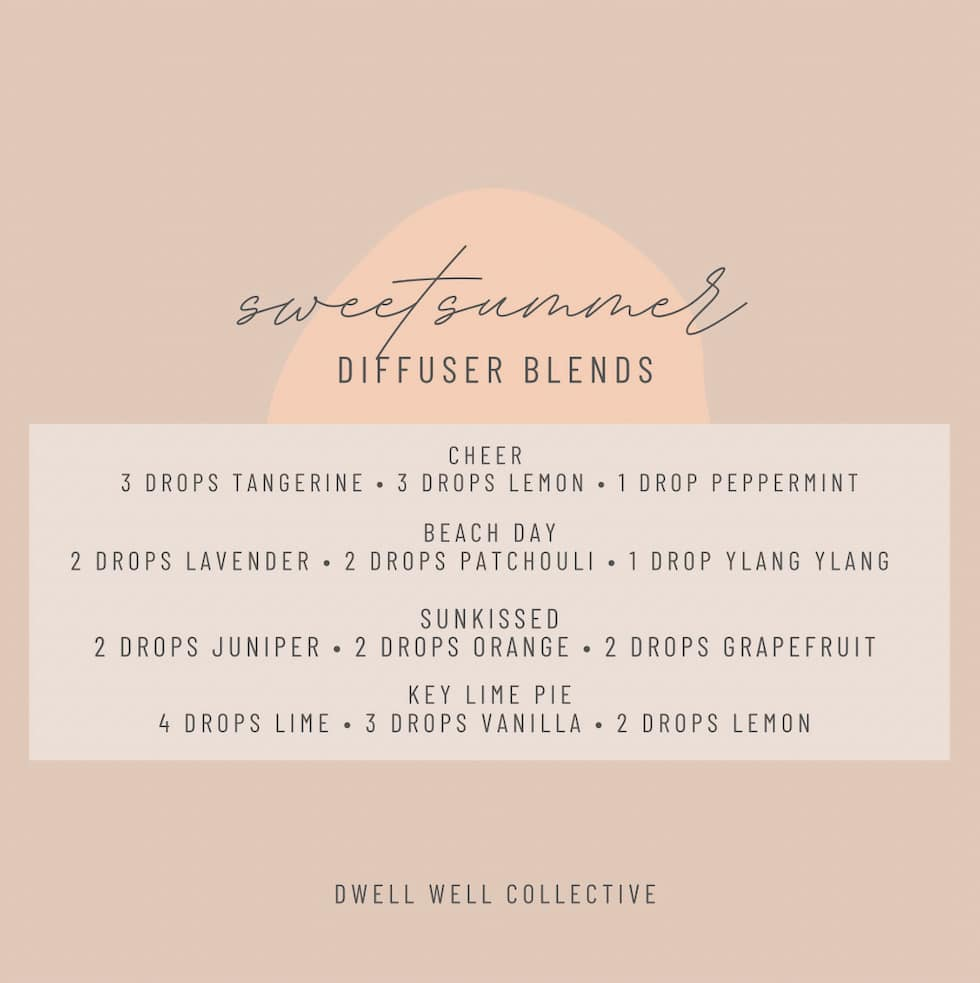 Summer Diffuser Blends for Your Home